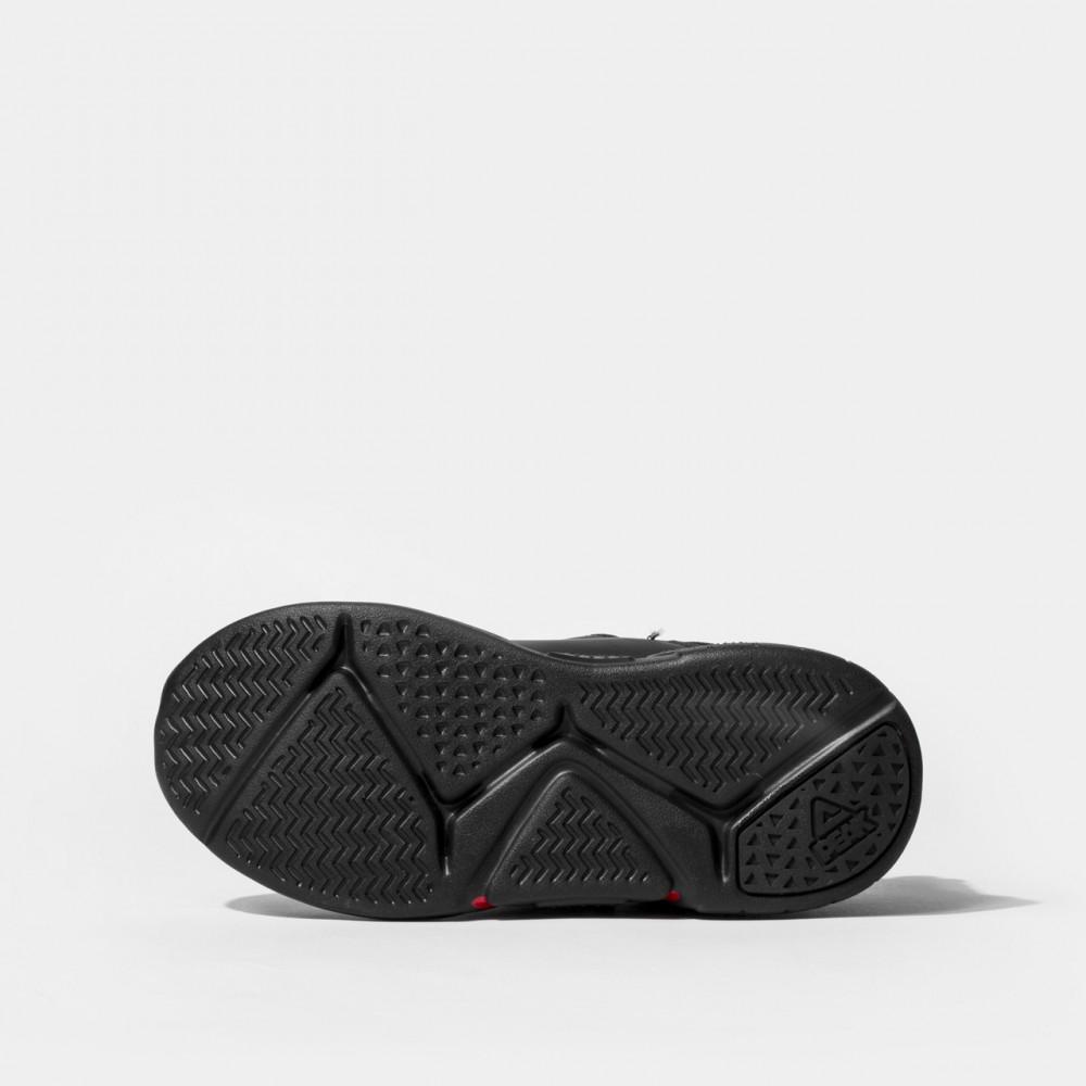 chaussure basket peak scratch gris rose pour enfants