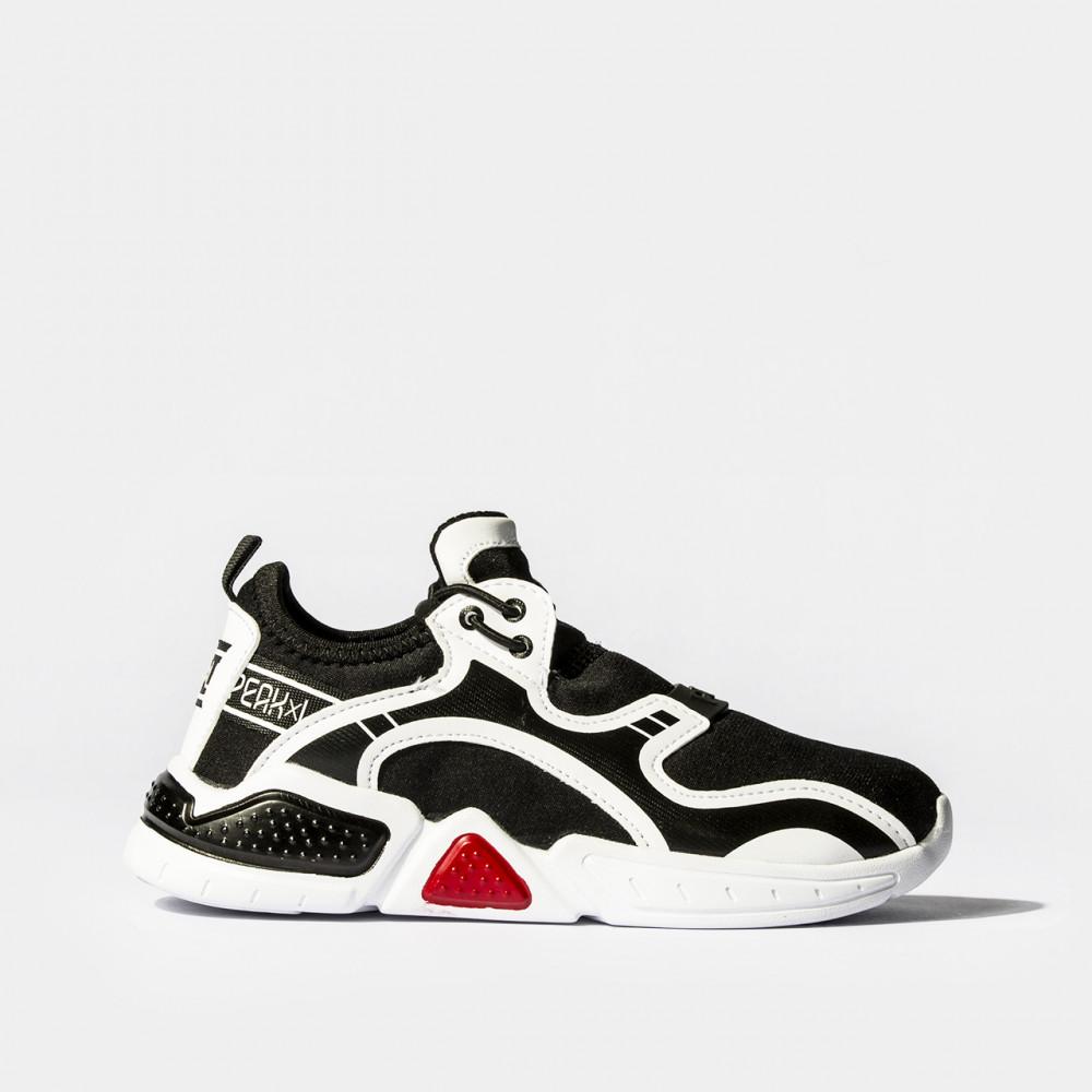 chaussure basket peak snap noir blanc pour enfants