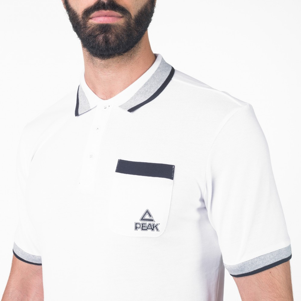T-shirts polo peak Blanc