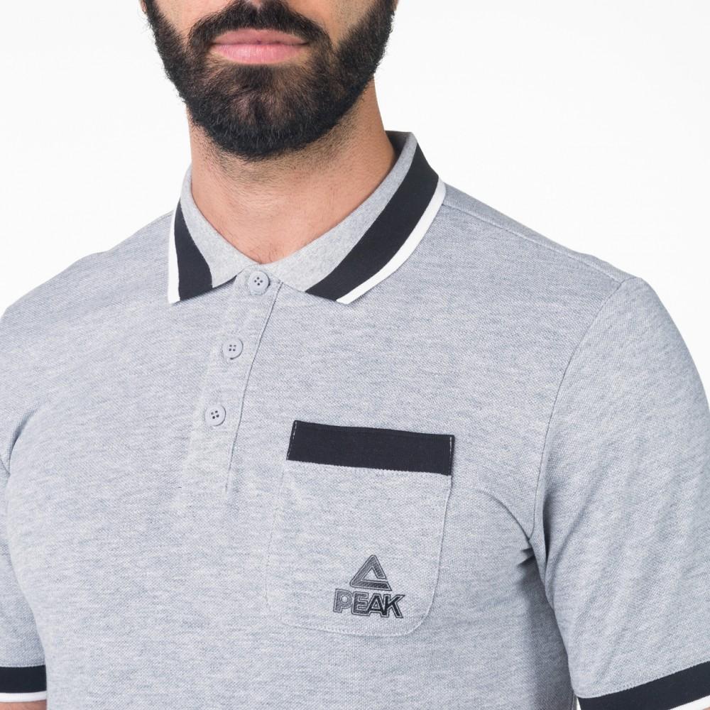 T-shirts polo peak Gris