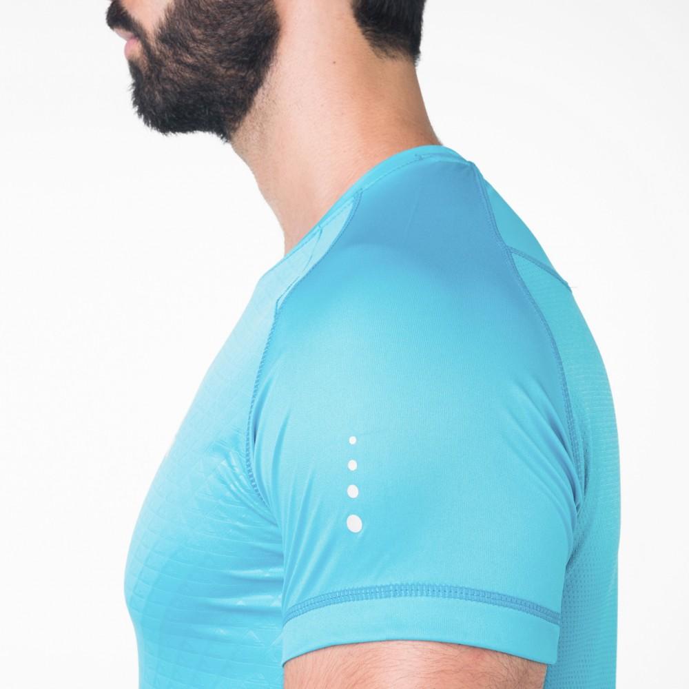 T-shirts running plus Bleu