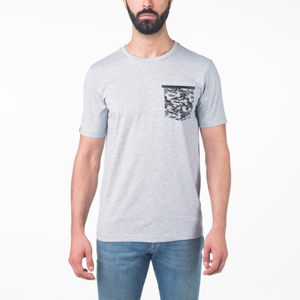 T-shirt peak stars Gris