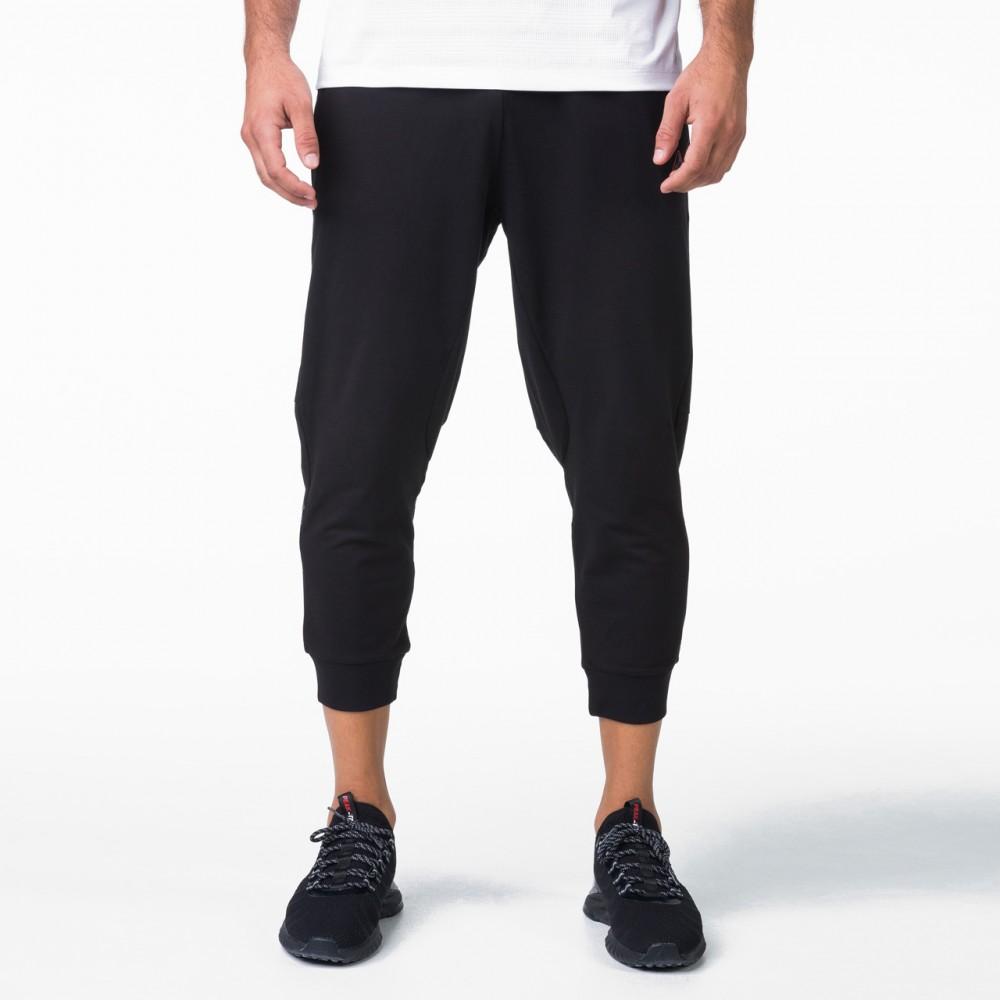 image 1 de Pantalon Sport d'Été  homme triangle tp9 noir ,Élastique Léger et respirant de peak sports tunisie