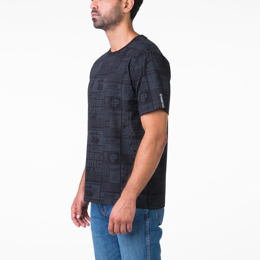 t-shirt culture noir homme tunisie