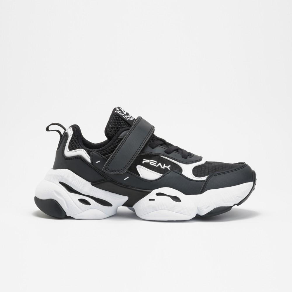 chaussure basket peak deep kids noir blanc pour enfants