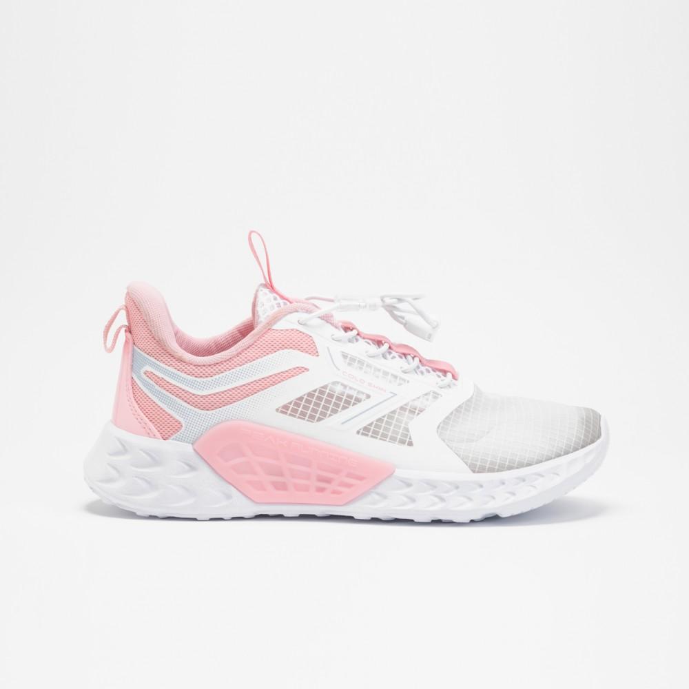 chaussure basket fille peak spinner kids blanc rose pour enfants