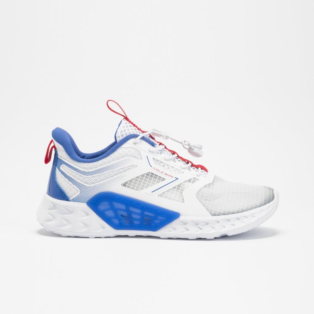 chaussure basket garçon peak spinner kids blanc bleu pour enfants