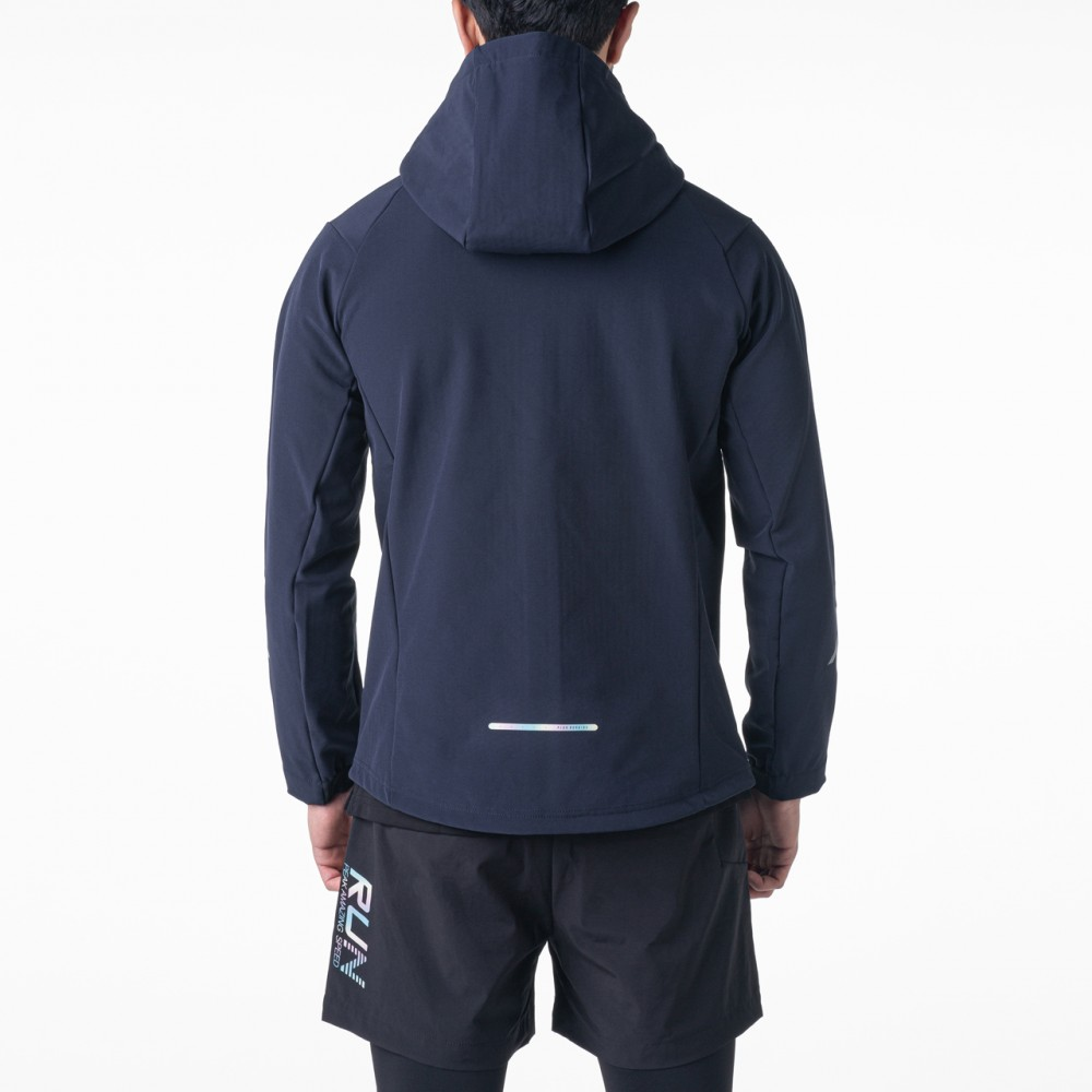 veste à capuche imperméable  homme bleu marine pour running tunisie
