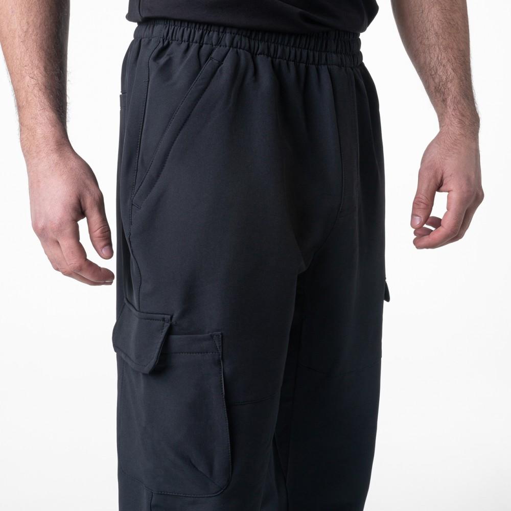 Pantalon noir large et légère élastique