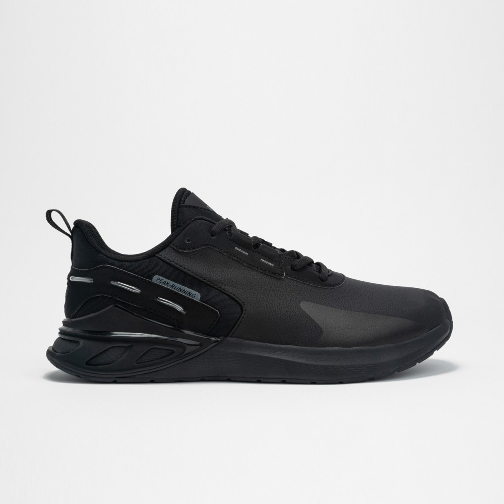 vue gauche de chaussure p-motive pro noir de running homme