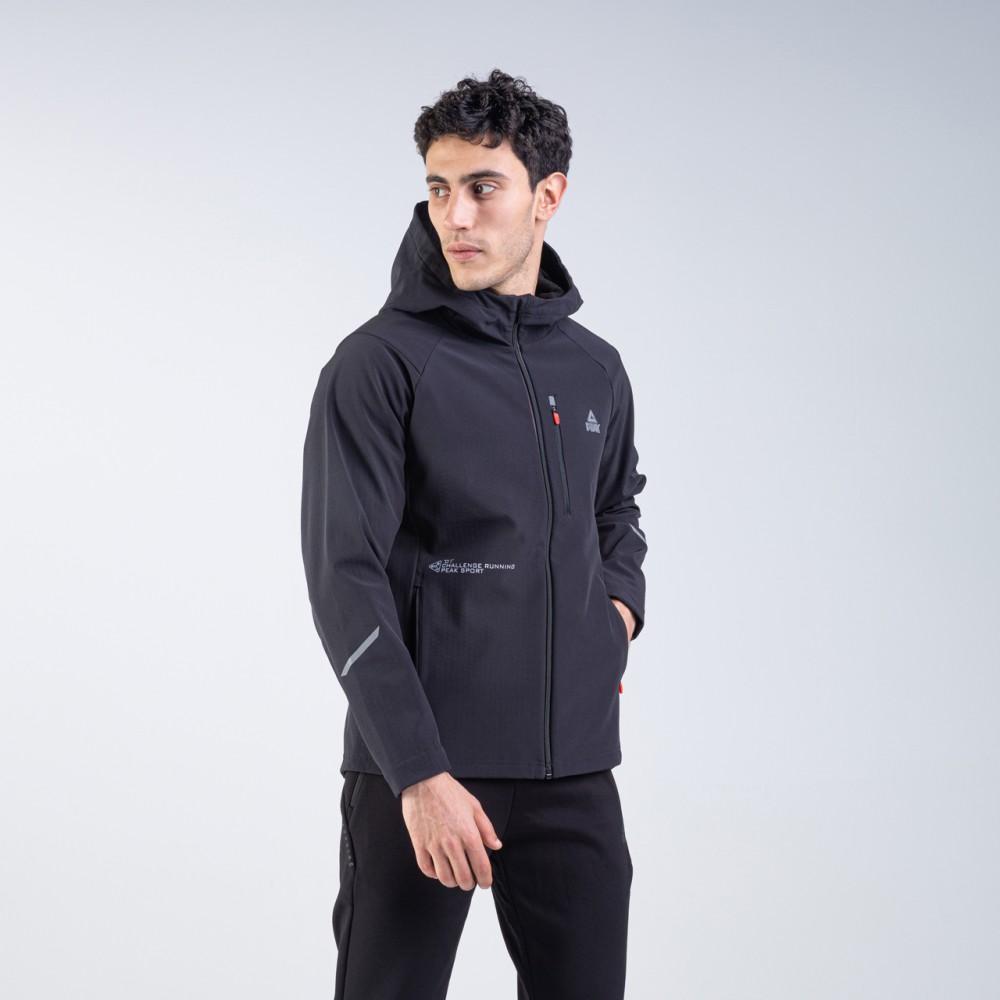 veste à capuche imperméable  homme noir pour running tunisie