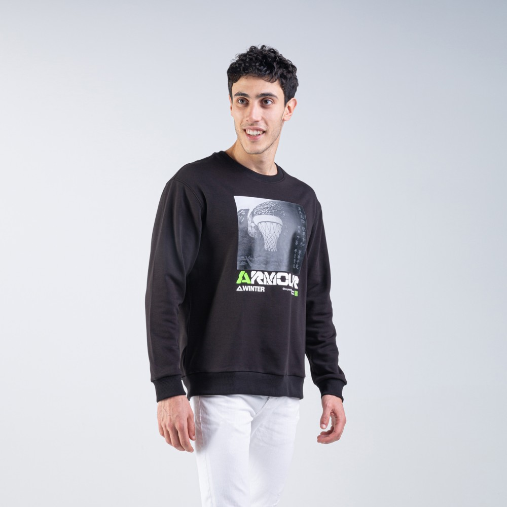 sweat shirt armour noir basketball tunisie pour homme