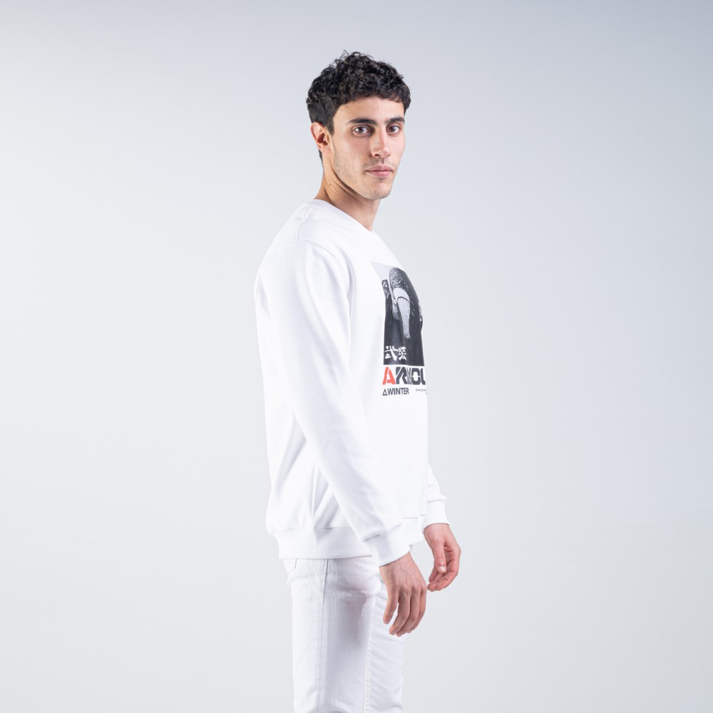 sweat shirt armour blanc men