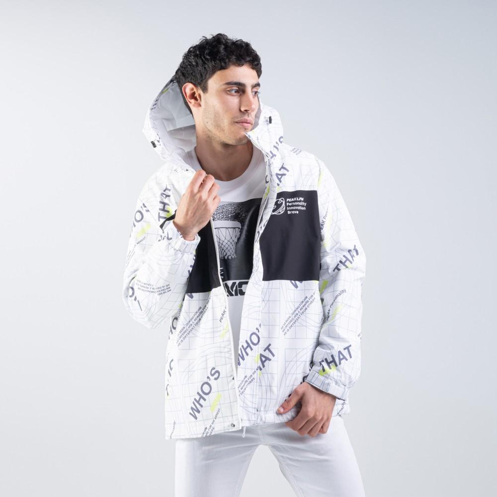 veste à capuche attitude blanc noir full zip