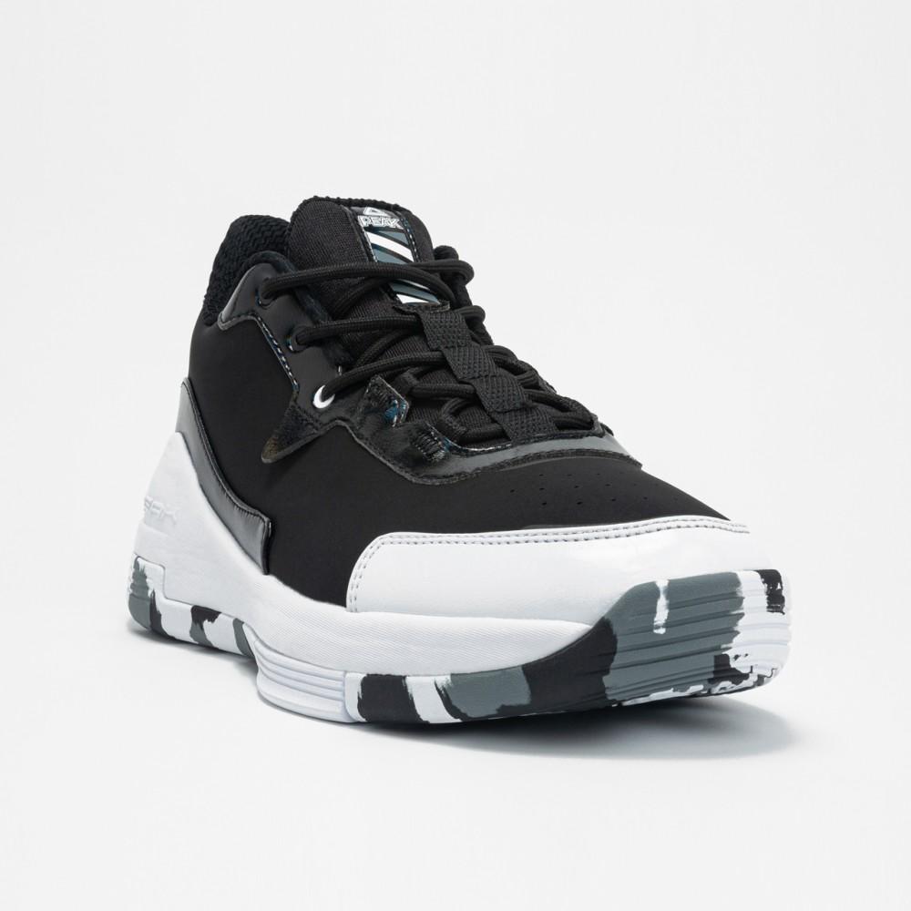 chaussure de sport basketball et handball p-boom noir blanc