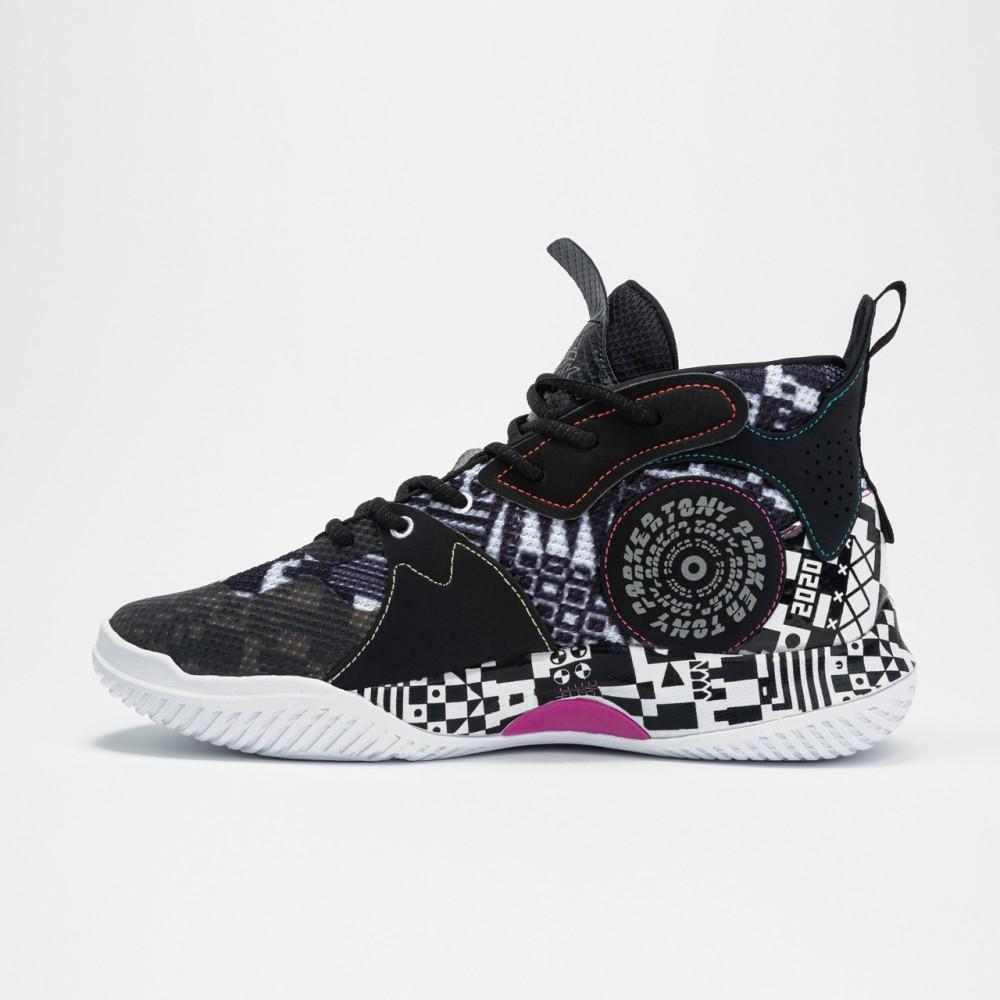 vue droite chaussure de basketball homme nba