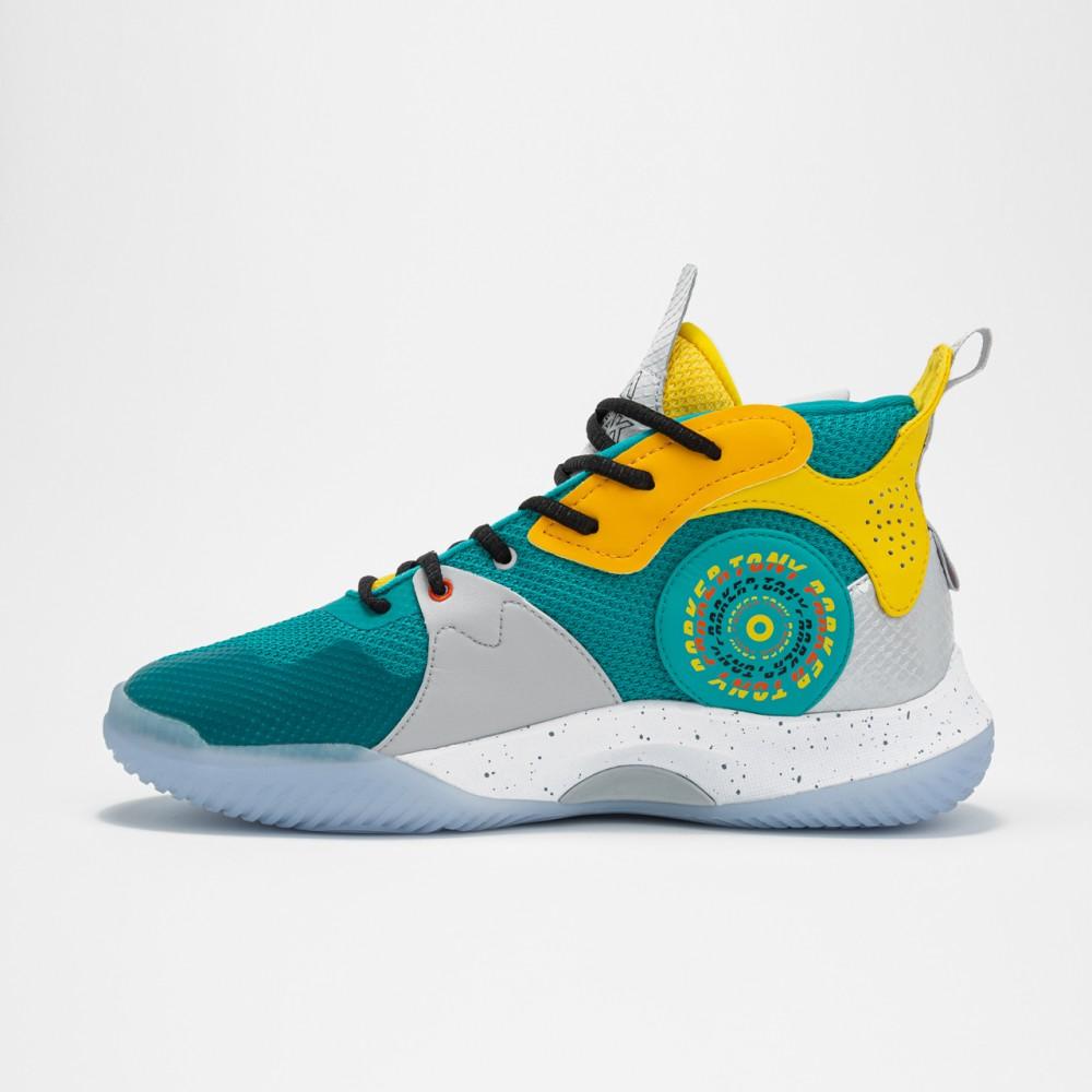 Chaussure de basketball tp strike vert jaune