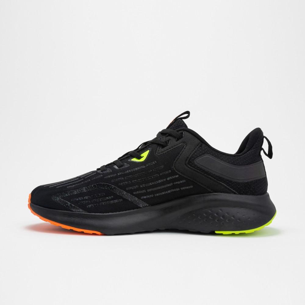 Chaussure de running homme peak run noir orange