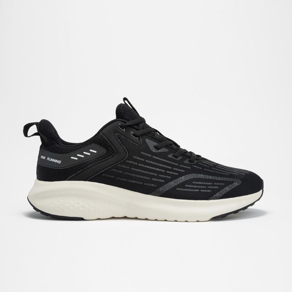 Chaussure de running homme peak run noir blanc