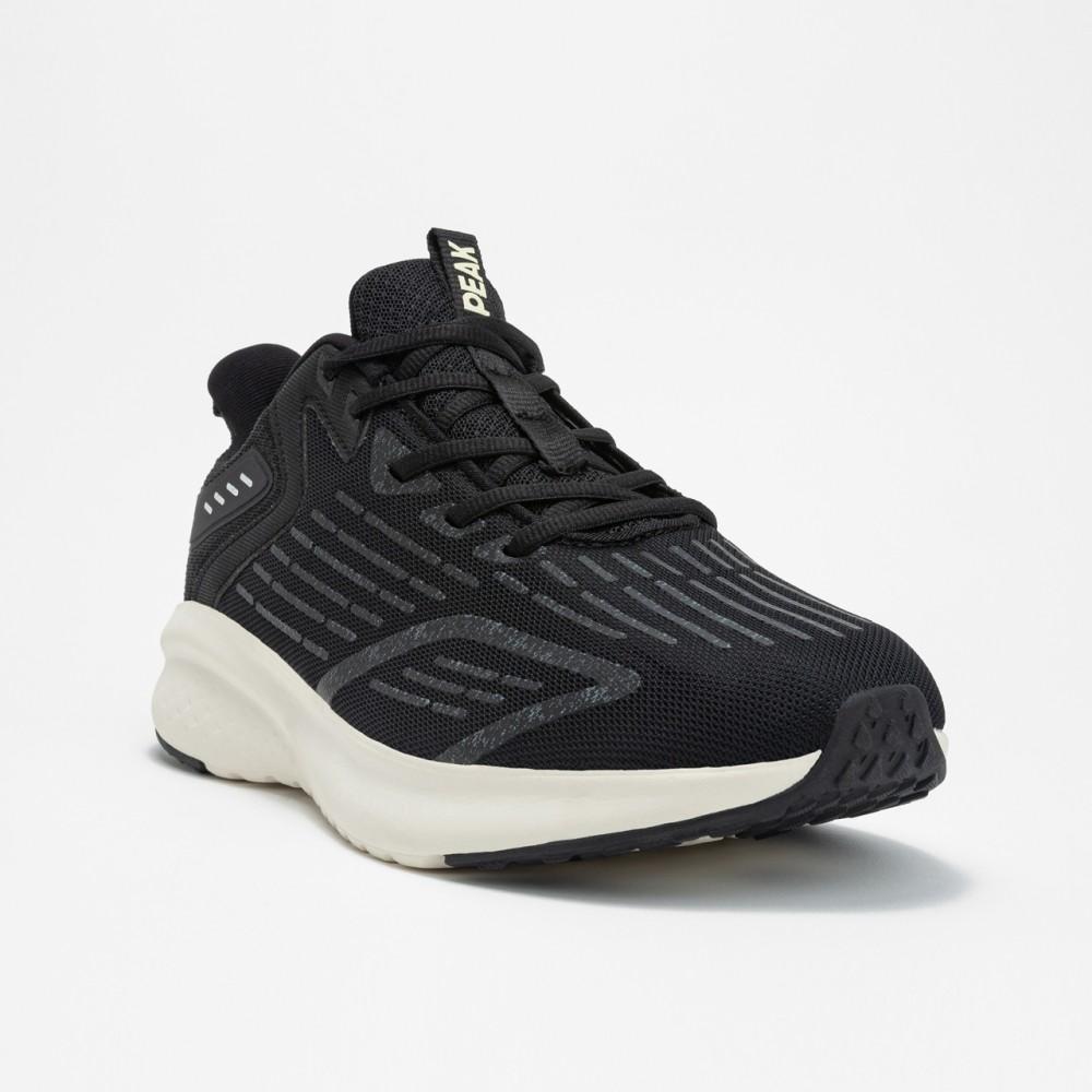 Chaussure de running homme peak run noir blanc vue 3