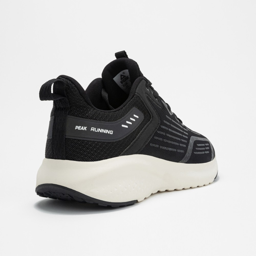 Chaussure de running homme peak run noir blanc vue 4