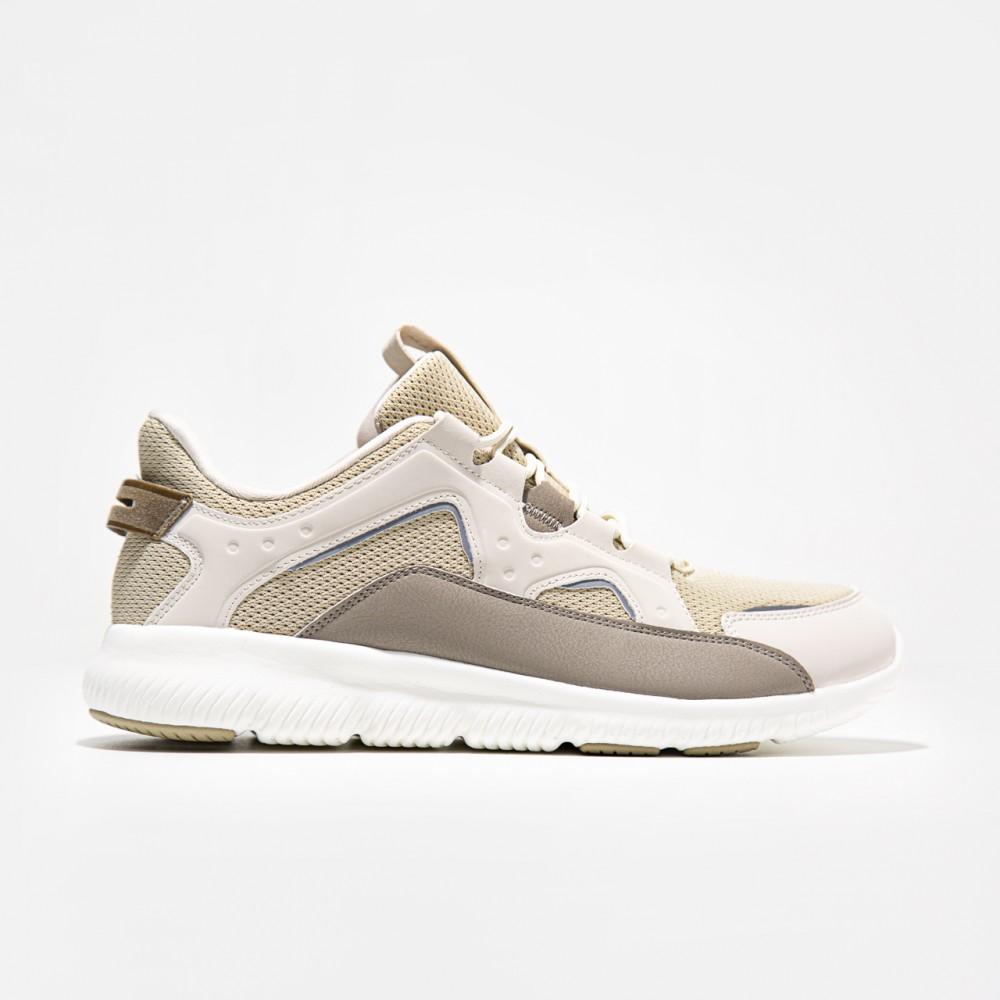 Chaussure beige blanc Peak classique confort