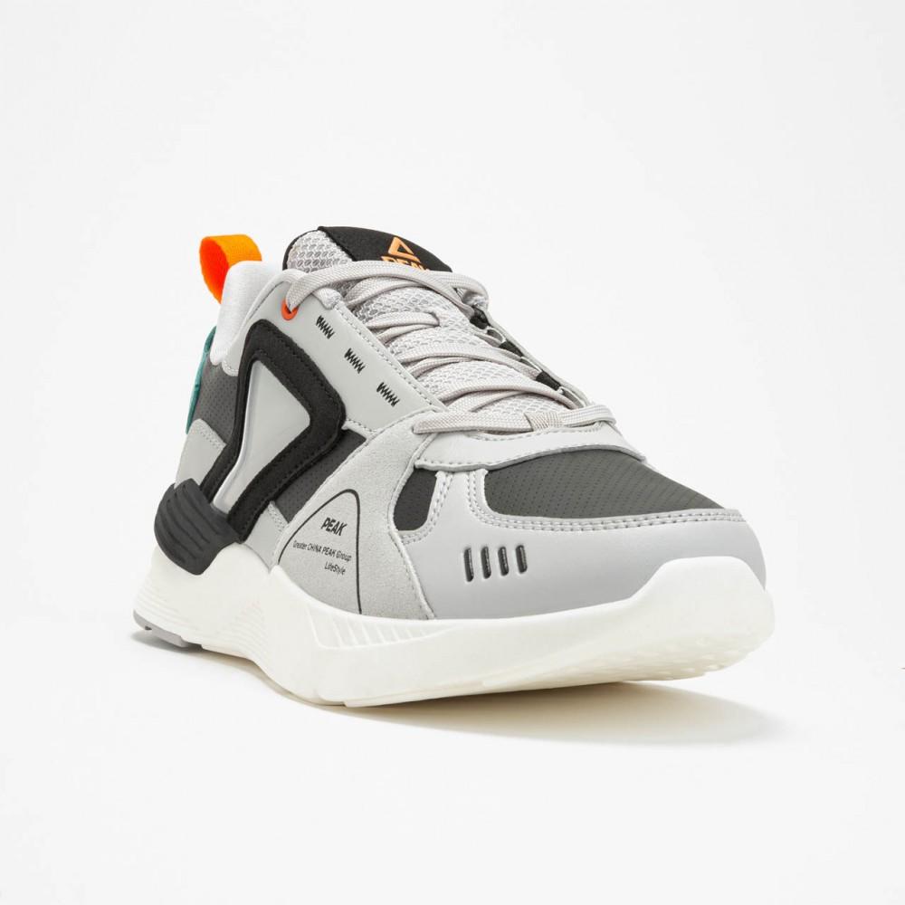 Chaussure lifestyle et sport chic homme gris noir orange