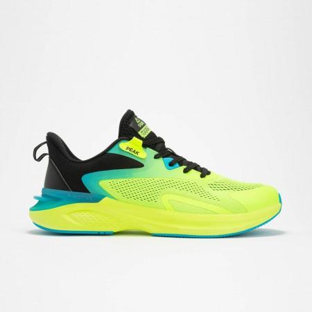 chaussure de running pour homme vert jaune  de haut de gamme