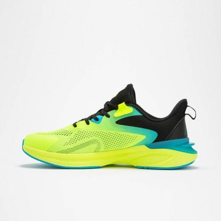 chaussure de running pour homme vert jaune  de haut de gamme 2