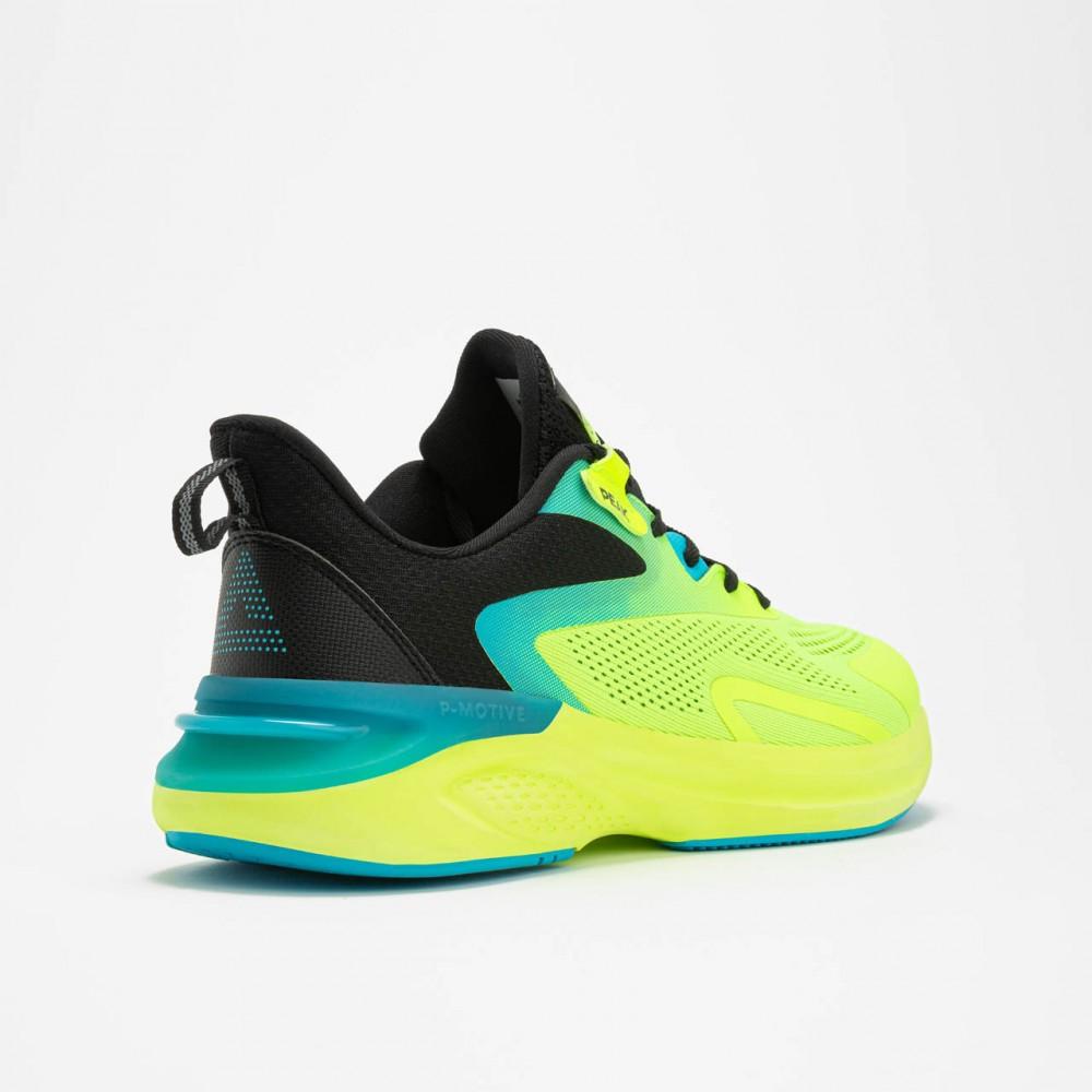 chaussure de running pour homme vert jaune  de haut de gamme 4