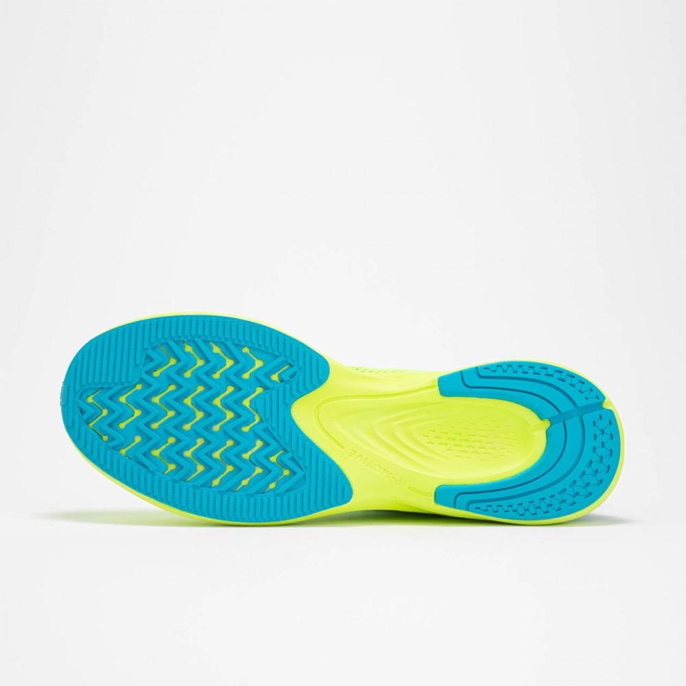 semelle chaussure de running pour homme vert jaune  de haut de gamme