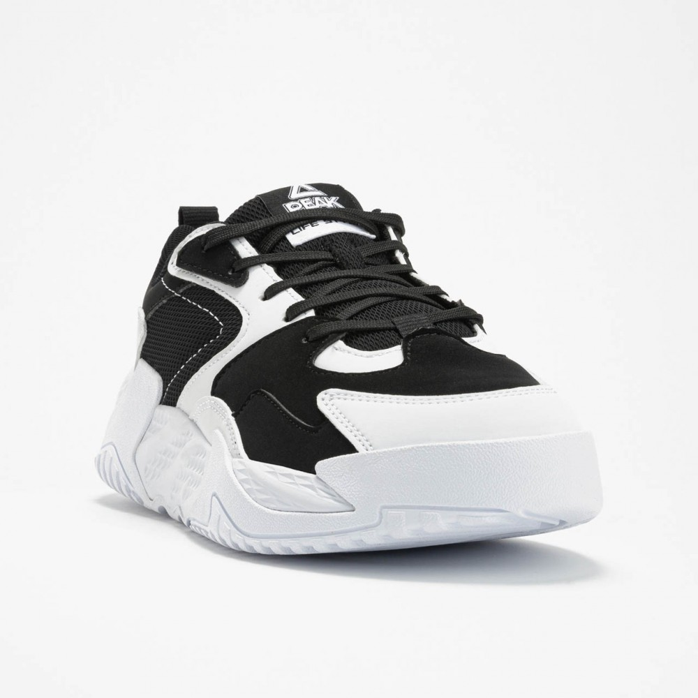 Chaussure sport chic lifestyle femme delta noir blanc