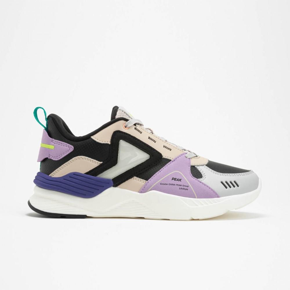 chaussure basket femme lifestyle noir violet