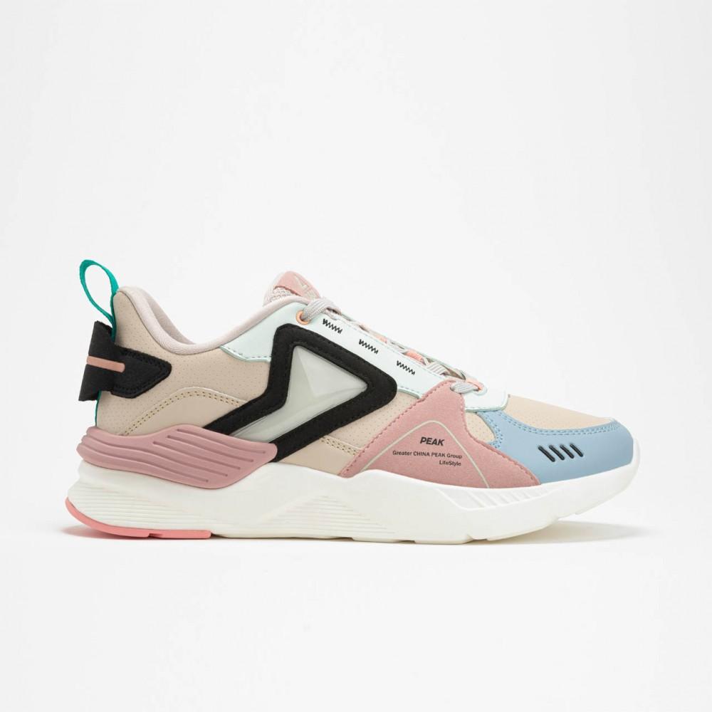 chaussure basket femme lifestyle beige rose bleu ciel