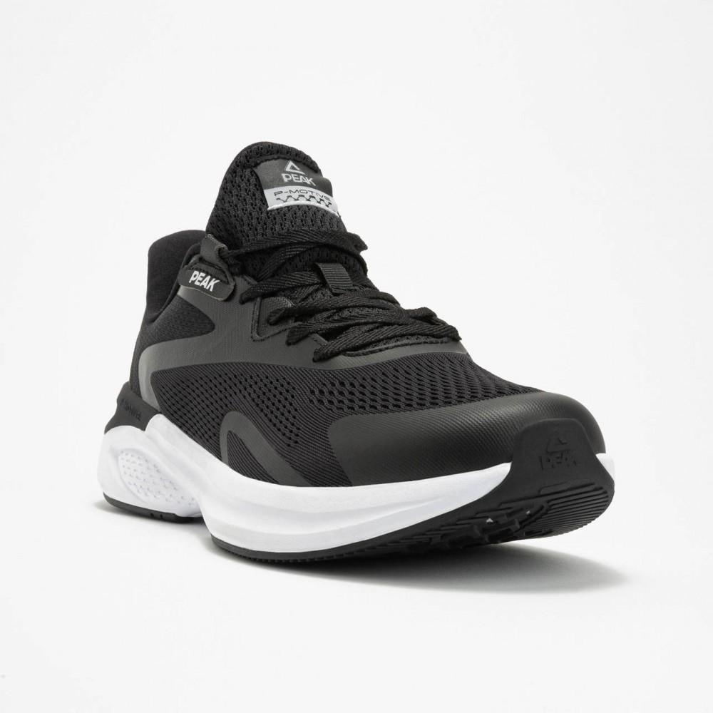 chaussure de running pour homme noir blanc de haut de gamme