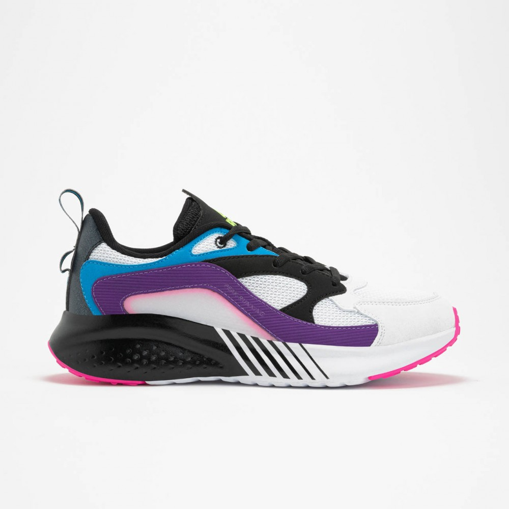 chaussure femme running Peak fusion blanc noir violet