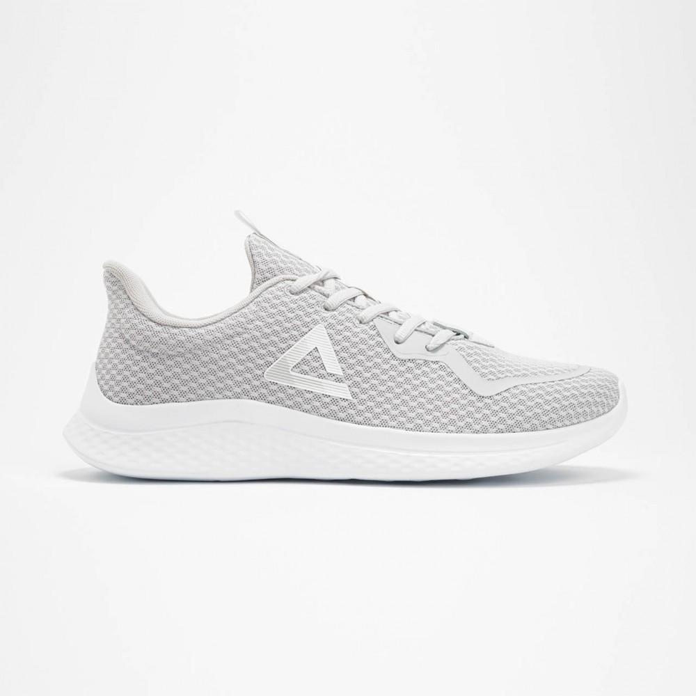 chaussure de sport et running pour homme et femme flexible lingo gris blanc