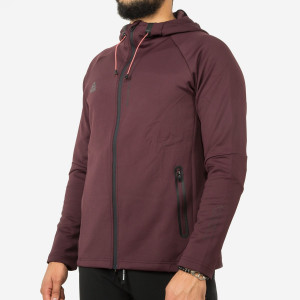 SWEAT A CAPUCHE-rouge-bordeaux