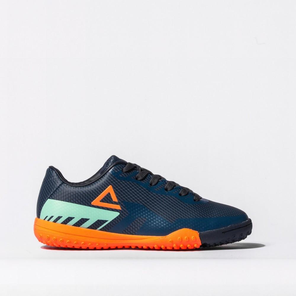 chaussure football turf 2021 bleu orange  pour enfant kids