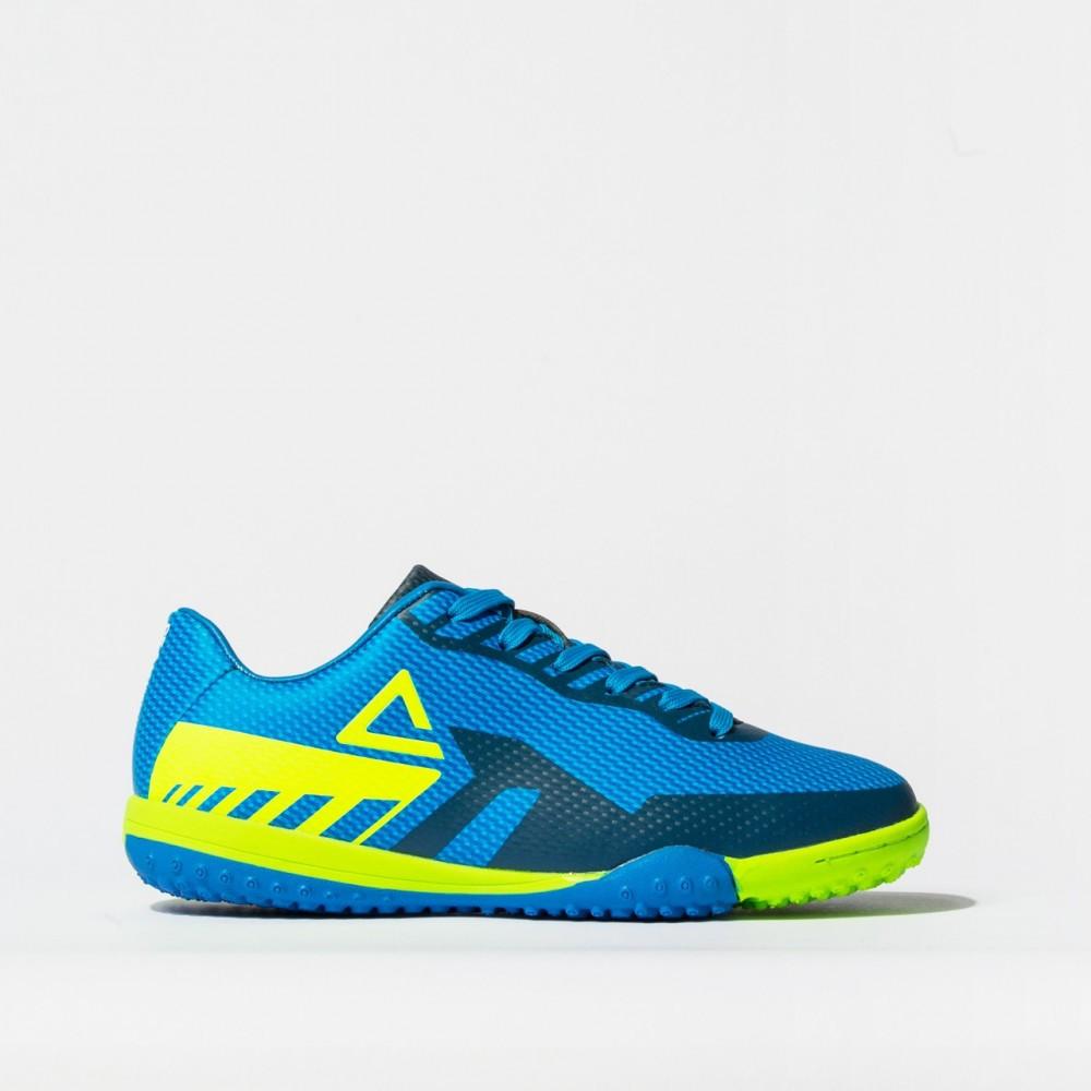 chaussure crampon football turf 2021 bleu vert pour enfant kids