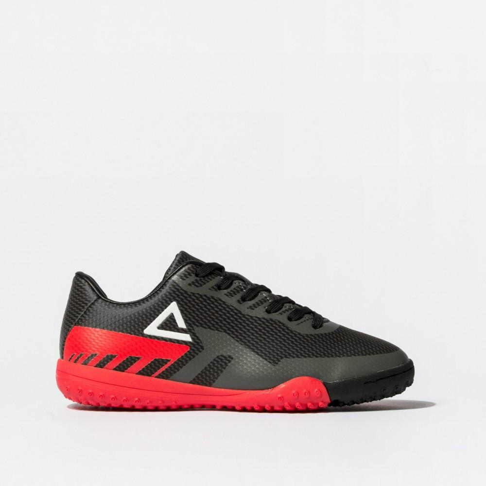 chaussure crampon football turf 2021 noir rouge pour enfant kids