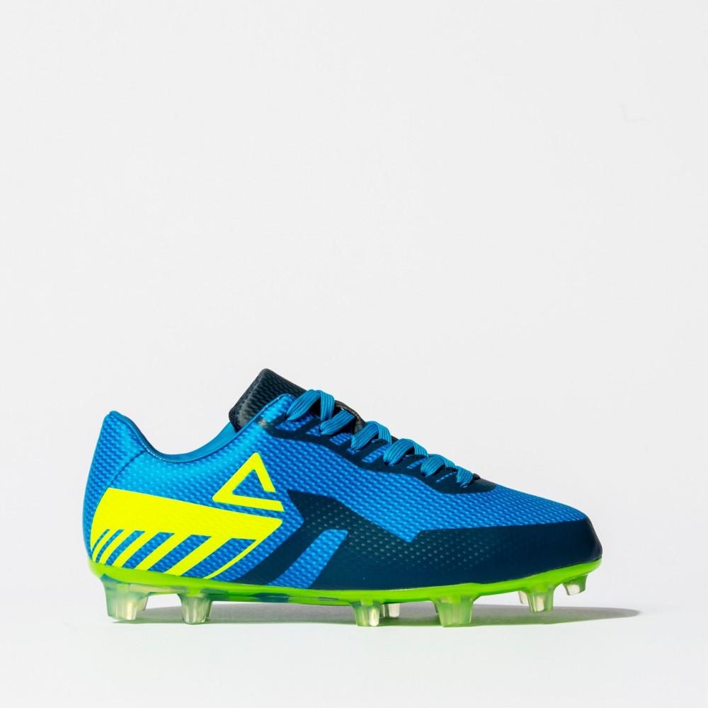 chaussure football t-souple 2021 bleu vert  pour enfant